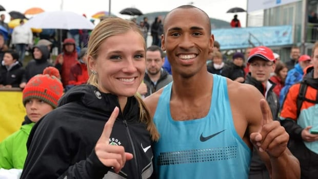 Heptathlete Brianne Theisen, left, and decathlete Damian Warner, right, are the first Canadians to win at the Hypo Meeting since Michael Smith in 1996.