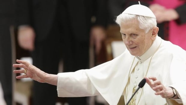Pope Benedict XVI arrives to lead a special audience with priests of the Diocese of Rome in Paul VI's hall at the Vatican on Thursday.