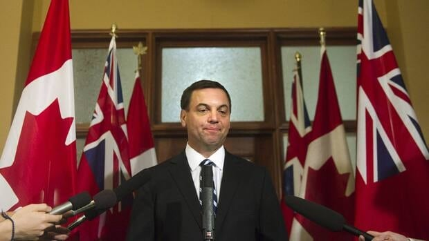 Ontario Conservative Leader Tim Hudak says the Liberals' fiscal plan has a '$300-million hole' in it thanks to the deal with Catholic teachers.