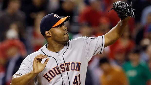 Former Astros closer Jose Veras, who was traded to Detroit on Monday, struck out 44 batters in 43 innings with only 14 walks for Houston this season while sporting a 2.93 ERA.