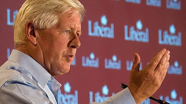 Interim Liberal leader Bob Rae delivers a speech to Liberal MPs during the Liberal Summer Caucus at Chateau Montebello in Quebec on Wednesday.
