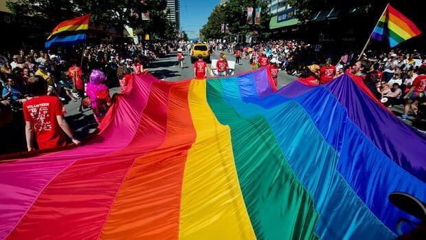 Vancouver pride parade flag