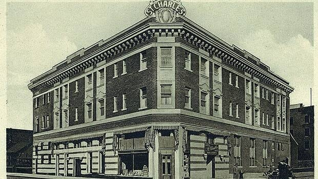 The St. Charles Hotel is shown in better days in this postcard.