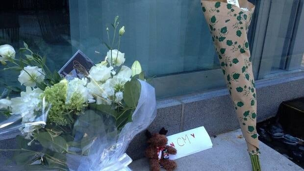 Outside the downtown Vancouver hotel where he died, fans began leaving behind bouquets, stuffed animals and cards for the Canadian actor.