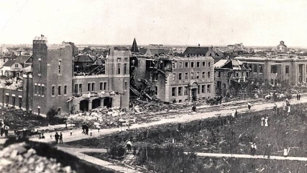 The 1900 block of Lorne Street, across the street from Victoria Park, was one of the worst-hit areas of Regina in the 1912 tornado.