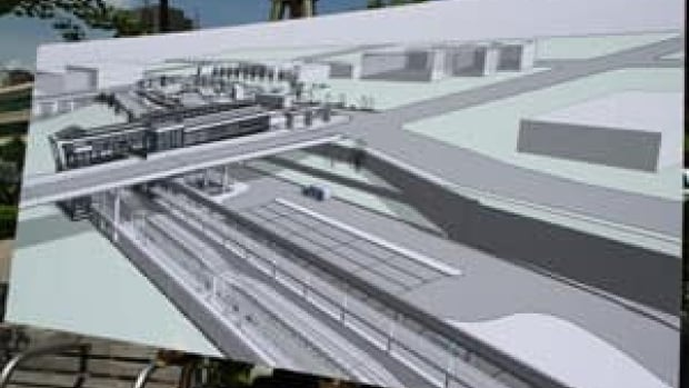 A Metrolinx artist rendering of the new James Street North GO Station, slated for 2015 completion.