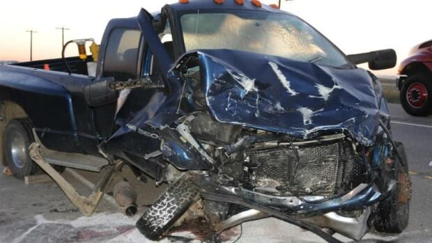 Lloyd Louis Gerard was driving this truck when he hit an SUV. The driver of the SUV died as a result of injuries sustained in the crash.