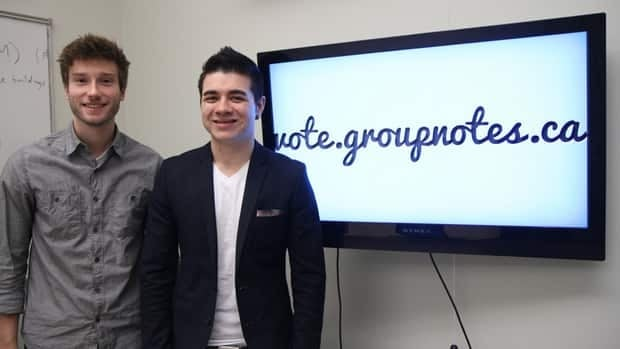 McMaster students Jason Moore and Matt Gardner co-founded Groupnotes at a 54-hour start-up competition.