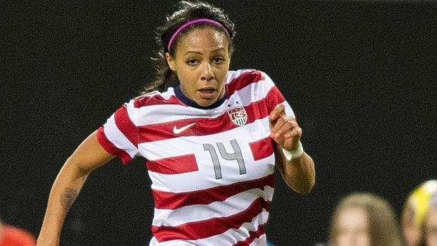 Sydney Leroux, seen in a match in February, was born in Vancouver.