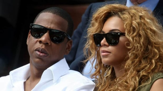 Singer Jay-Z, left, and Beyonce, shown together June 6, 2010, had their social security numbers and financial information leaked online.
