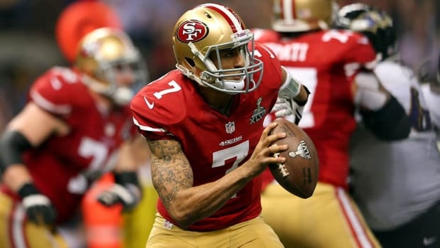 Quarterback Colin Kaepernick and the San Francisco 49ers are a popular Super Bowl pick after reaching the NFL title game last season.