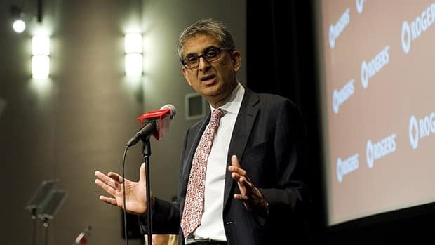 CEO Nadir Mohamed, seen at Rogers's AGM in April, has acknowledged competition is intensifying.
