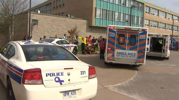 A mock disaster was held Monday at Memorial University's main campus in St. John's.