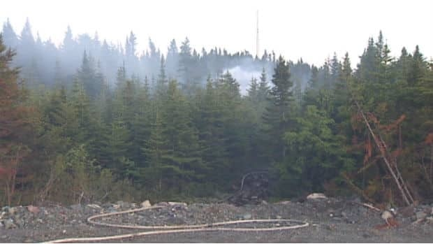 A fire destroyed a small cabin in the area of Beaver Pond Road in Shea Heights on Thursday night.