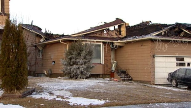 A fire that broke out early Tuesday morning destroyed this house and an adjacent one in northeast Calgary.