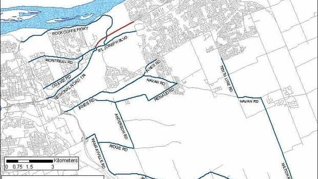 The City of Ottawa has set up detours for commuters travelling eastbound.