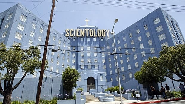 The bastion-like Church of Scientology in Los Angeles, firmly entrenched in the land of the celebrity.