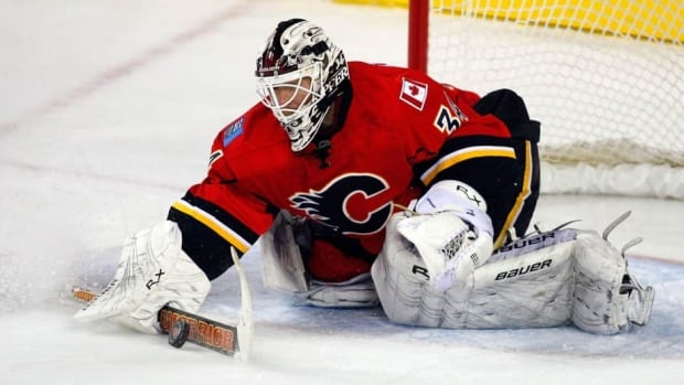 Goaltender Miikka Kiprusoff has one year remaining on his contract with the Calgary Flames.