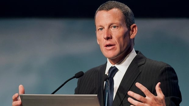 Lance Armstrong speaks to delegates at the World Cancer Congress in Montreal Wednesday, August 29, 2012.