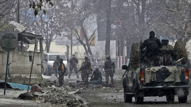 In another militant attack in Kabul, Afghanistan on Wednesday, six militants wearing suicide vests - including one driving a car packed with explosives - attacked the gate of the Afghan intelligence in Kabul, setting off a blast that reportedly caused several deaths and wounded at least 30 civilians, officials said.