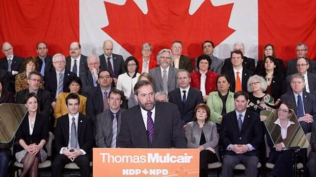 The federal NDP has instructed MPs and staff not to get involved in the Quebec election. Leader Tom Mulcair once sat in Liberal Jean Charest's cabinet in Quebec City.
