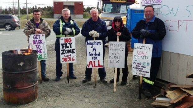 Many of the maintenance and emergency services workers at St. John's International Airport have been on strike since September.