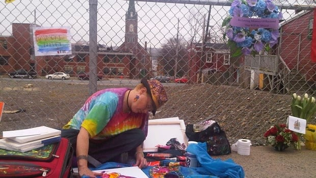 A memorial is being set up on Gottingen Street in Halifax to honour Raymond Taavel.