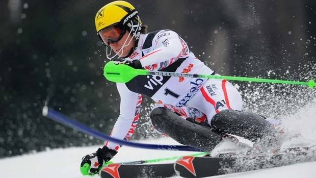 Marcel Hirscher of Austria captured the World Cup slalom race in Zagreb, Croatia, in a combined time of 1:51.84.