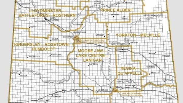 The proposed new federal electoral map for Saskatchewan proposes 14 ridings, with five of them mostly all urban.