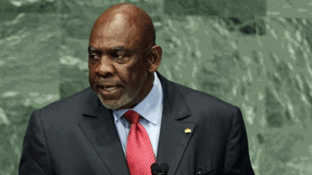 A file photo shows Mali Prime Minister Cheick Modibo Diarra at the United Nations. Diarra was arrested at his home late Monday by the soldiers who helped lead a recent coup.