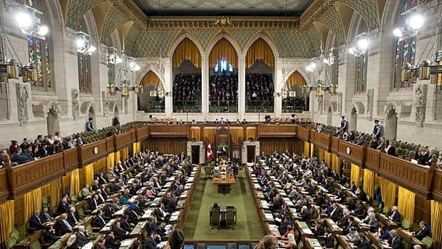 The chamber of the House of Commons is shown during Question Period Wednesday March 27. MPs are debating S-7, a bill to revive anti-terrorism measures first passed in 2001 after the 9/11 airplane attacks in New York.