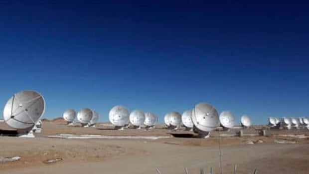 Just 16 of the ALMA radio telescope's 66 antennas were installed when the studies that Hezaveh was involved in were conducted.