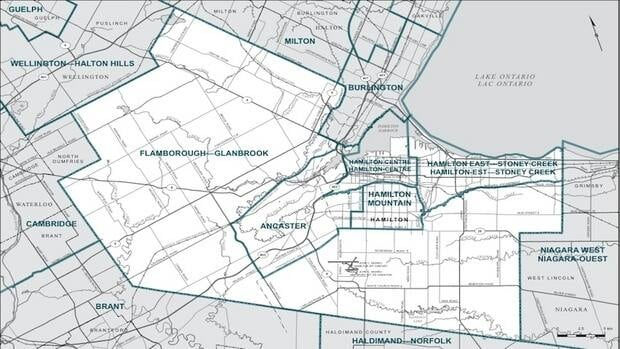 The new ridings most closely resemble an original proposal from the commission.