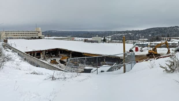The Algo Centre Mall in Elliot Lake is currently undergoing demolition. An inquiry into the collapse of the mall's roof, which killed two people, and the rescue efforts surrounding the tragedy, is now expected to start the week of March 4.
