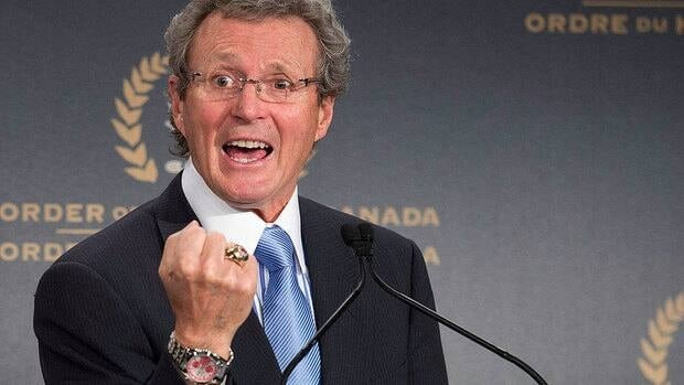 Paul Henderson, who recevied the Order of Hockey in Canada on Monday, says being part of a clinical trial helped shrink a cancerous tumour in his stomach and he has regained 16 of the 18 pounds he lost last year.
