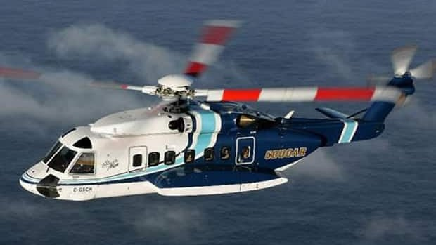 Cougar Helicopters has the contract to fly workers to and from installations in Newfoundland and Labrador's offshore oil industry.