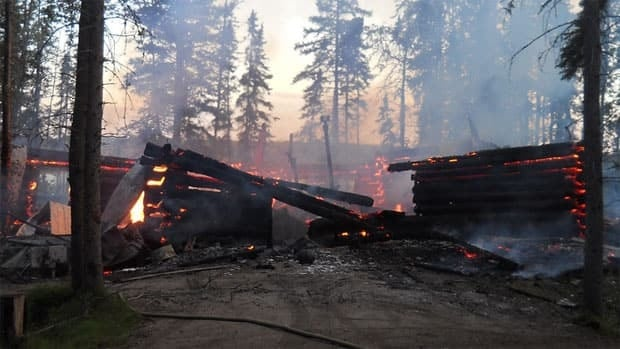 The fire at Lake of the Loon resort broke out around 4 a.m. CST on Tuesday. The main building, a log structure, was destroyed.