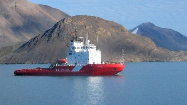 The Terry Fox Coast Guard ship happened to be close to the community and was able to help the hunters.
