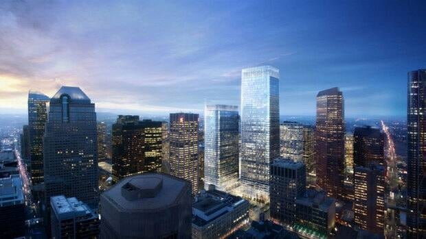 Brookfield Office Properties plans to build what would be the tallest office tower in Calgary and Western Canada, standing at 247 metres, on the site of the former Herald building.