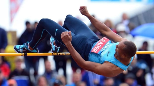 Canada's Damian Warner clears the bar in the high jump during the men's decathlon on Saturday at the Hypo Meeting in Goetzis, Austria.