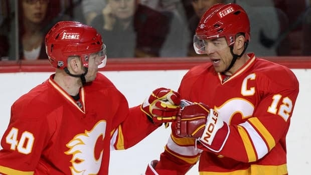 Flames franchise player Jarome Iginla, right, could become an unrestricted free agent at season's end.