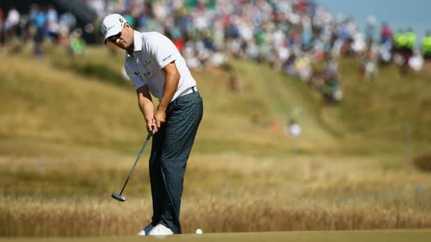 Zach Johnson during the first round of the British Open at Muirfield on July 18, 2013 in Gullane, Scotland.