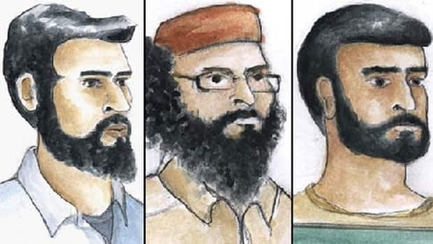 Khurram Sher, Hiva Alizadeh and Misbahuddin Ahmed have been charged in connection with an alleged domestic terrorism plot.