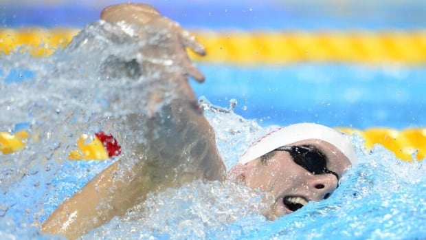Canada's Ryan Cochrane, shown here at the 2012 London Olympics, won gold on Friday