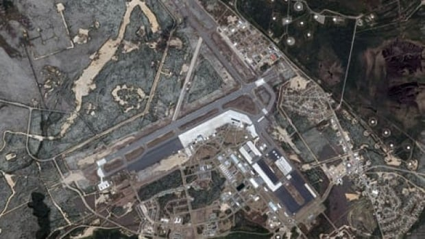 Canadian Forces Base Goose Bay, in an arerial photograph taken by the U.S. National Oceanic and Atmospheric Administration.