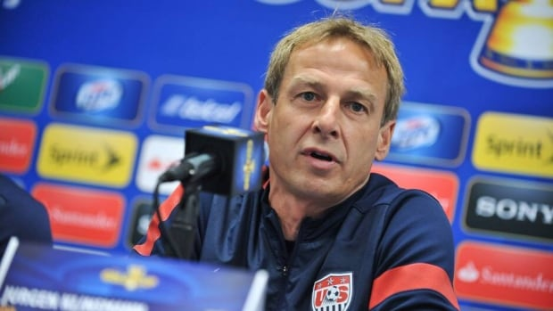 U.S. national team coach Jurgen Klinsmann at a press conference on July 23, 2013.