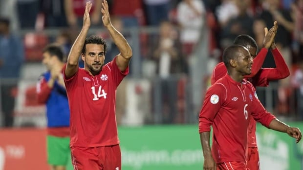 Dwayne De Rosario is shown scoring for Canada in their 1-0 win over Panama last September in a World Cup qualifier in Toronto.