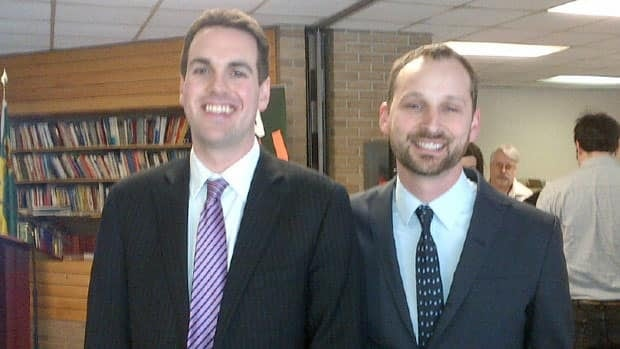 Erin Weir, left, has endorsed Ryan Meili, right, for leadership of the Saskatchewan NDP.