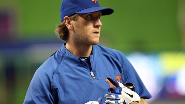 Jason Bay of the New York Mets prepares against the Miami Marlins at Marlins Park on September 1, 2012 in Miami, Florida.