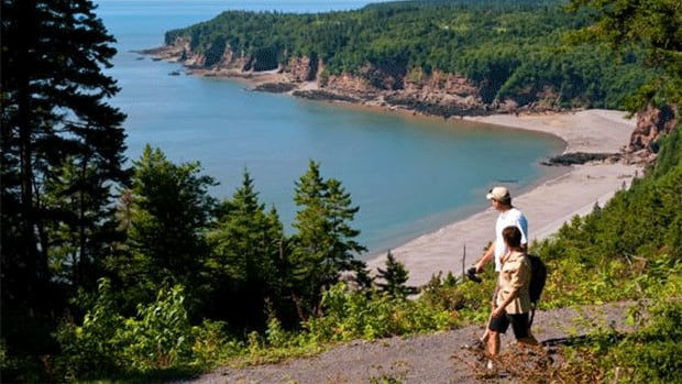 The Fundy Trail is a seasonal, multi-use coastal access network that begins just outside of St. Martins, less than an hour's drive from Saint John on Route 111.